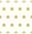 seamless pattern with cartoon yellow flowers vector image