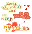 set hand lettering for valentines day vector image