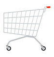shopping cart isolated on white vector image vector image