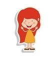 silhouette girl redhead with dress and shadow vector image vector image