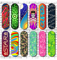 skateboard skateboarders board for vector image vector image