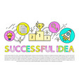 successful idea poster text vector image