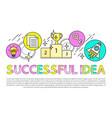 successful idea poster text vector image