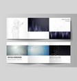 the minimal editable layout of square vector image vector image