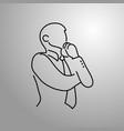 thinking businessman doodle sketch vector image vector image