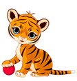 tiger cub vector image
