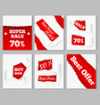 torn paper sale cards vector image vector image