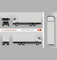 truck mockup vector image vector image