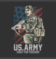 us army united states soldier with weapon vector image vector image