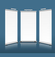 vertical exhibition stands vector image