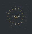 vintage gold sunburst design element on grunge vector image vector image