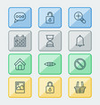 web icons set collection of obstacle glance vector image vector image