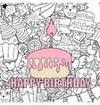 birthday cupcake background happy birthday vector image