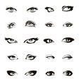 Woman eyes Beautiful female eye set or ink vector image