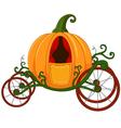 Cartoon Pumpkin carriage vector image