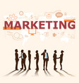 a group of businessmen plans for marketing vector image vector image