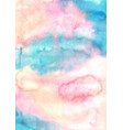 abstract fairy tale sky watercolor background vector image