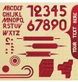 alphabet elements vector image vector image