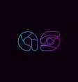 alphabet letter combination as a s logo company vector image vector image