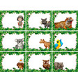 animal on nature template vector image vector image