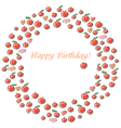Apple Happy Birthday vector image vector image