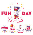 aprils fool fun day holiday celebration banners vector image