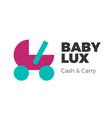 baby goods logo vector image vector image