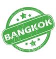 Bangkok green stamp vector image