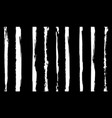 black and white grunge striped pattern for fabric vector image