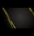 black modern technology background design vector image