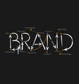 brand vector image vector image