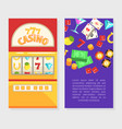 casino business card template gambling vector image