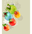 christmas background with glass balls vector image vector image