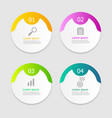 circle infographic elements layout 4 steps vector image vector image