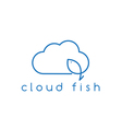 cloud and fish concept design template vector image vector image