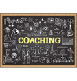 coaching on chalkboard vector image vector image