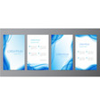 Collection set blue abstract covers