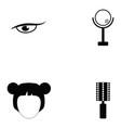 cosmetics icon set vector image