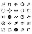 creative arrow icon set vector image vector image