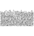crowd people raising their hands up on stadium vector image vector image