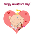 Cupid baby cartoon vector image vector image