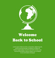 design template for back to school vector image vector image