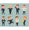Different Positions and Actions Businessman vector image vector image