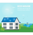Eco house banner Sun energy generation vector image vector image