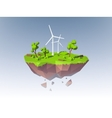 Ecology Island Concept vector image