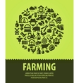 farming logo design template farm or vector image vector image