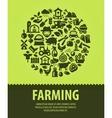 farming logo design template farm vector image