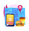 food delivery abstract concept vector image vector image
