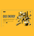 gas energy industry company website vector image vector image