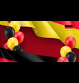 germany patriotic banner with space for text vector image vector image